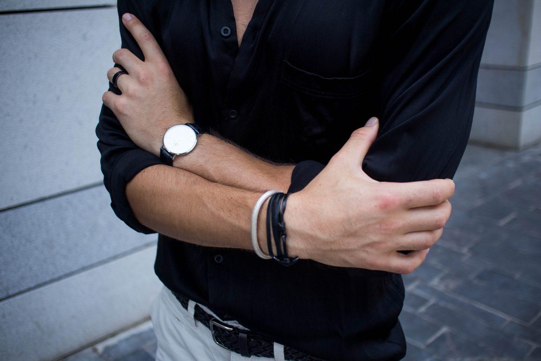 Black Satin Shirt